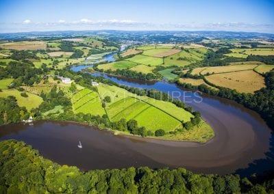 River Dart at Sharpham Vineyards, South Devon
