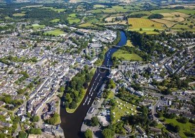 The River Dart through Totnes, South Devon